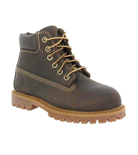 f7b1f31d595bdd Timberland Authentic 6 quot  Waterproof Boot, mixte enfant Marron (Medium  Rust) 20 EU