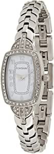 Fontenay Women's White Dial Stainless Steel Band Watch- 342QWAWMA