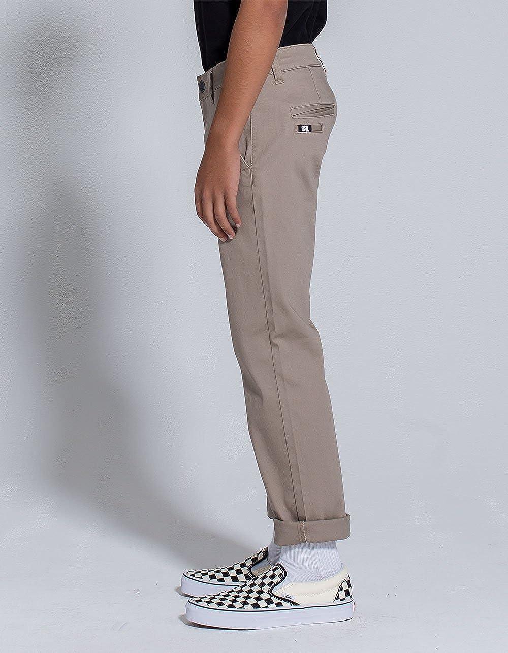 RSQ London Khaki Boys Skinny Stretch Chino Pants Khaki 16