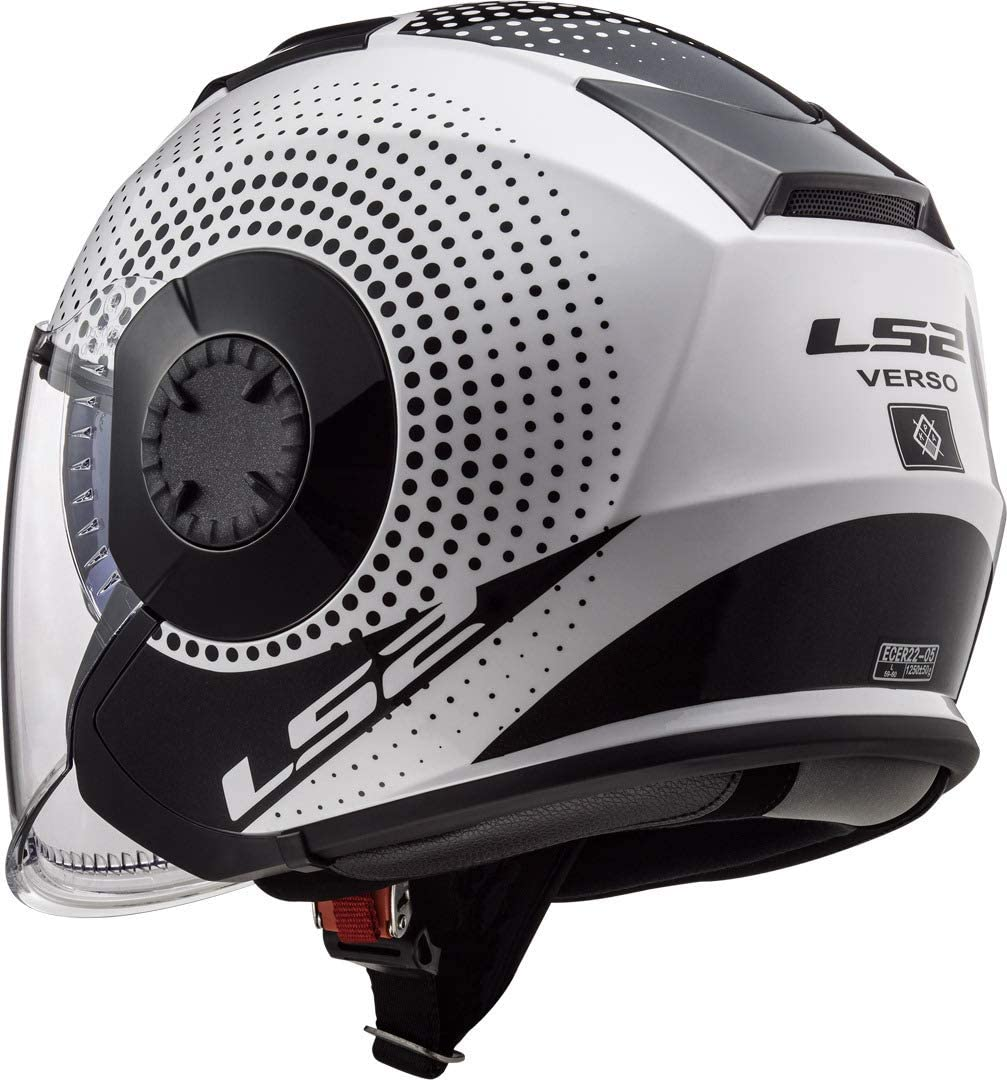 Motorcycle helmets LS2 OF570 VERSO SPIN White Black L Blanc//Noir