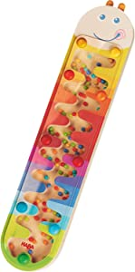 HABA Rainmaker Wormy - Wooden Rainbow Music Shaker Maze for Ages 2 and Up
