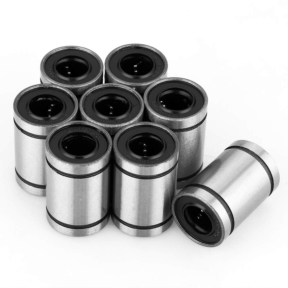 Rodamientos de bolas lineales, 8 piezas LM10UU 10 mm rodamiento de bolas impresora 3D CNC partes Bushing Linear Motion Accesorio