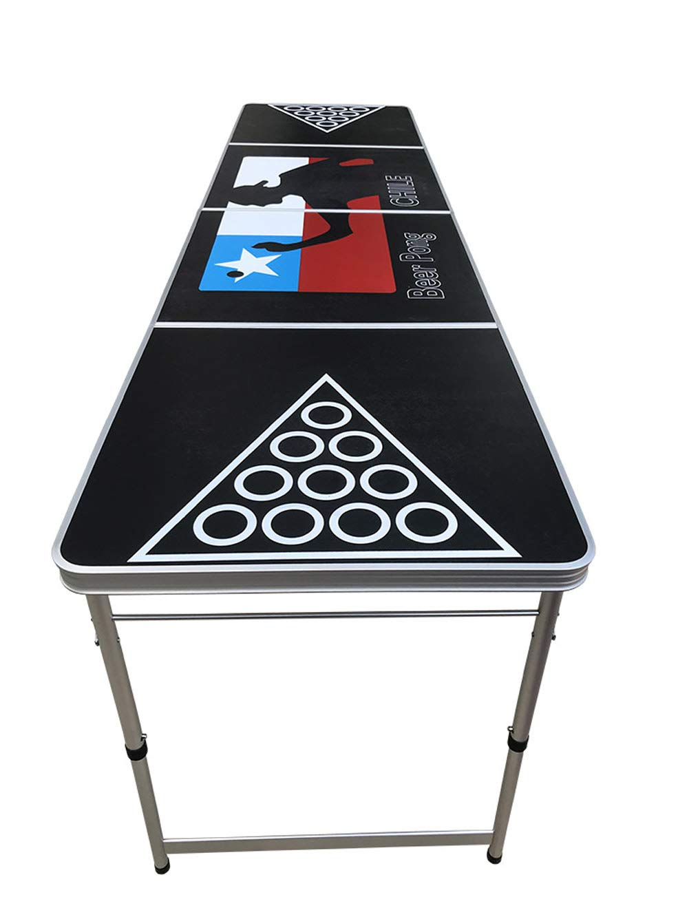 BlueSpace Beer Pong Table 8ft Folding Party Pong Table Set for Drinking Games Outdoor Indoor Picnic Portable Tables Aluminum
