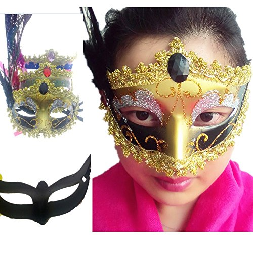 parksonyuan-3pcs-peacock-tail-eye-mask-feather-mask-halloween-mask