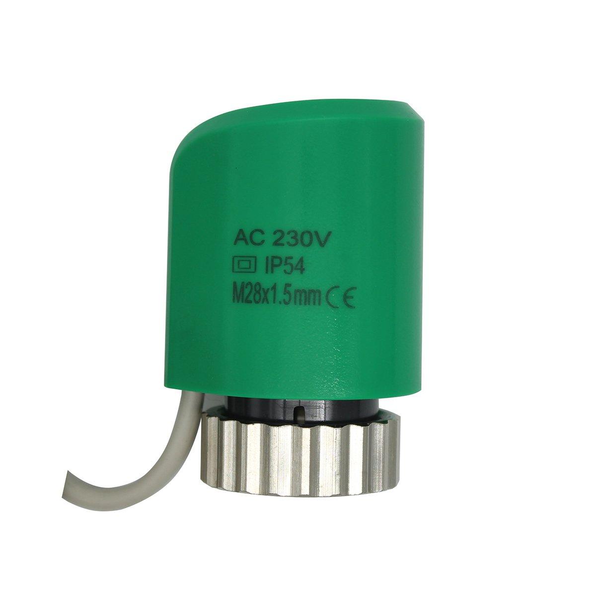 Actuador termico para suelo radiante m28 x1.5mm AC 230V AC//DC 24V normalmente abierto cerrado 220V normalmente cerrado