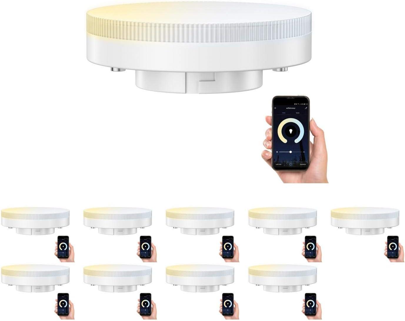 LED-Leuchtmittel GX53 1000 lm Abstrahlwinkel verstellbar dimmbar dimmbar//warm