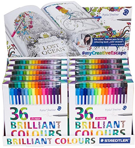 Staedtler Color Pen Set, 10 Sets of 36 Assorted Colors (Triplus Fineliner Pens) - 360 Pens! - Staedtler Business Pen
