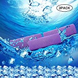 Wesoke Cooling Towel for Sports, Workout, Fitness, Gym, Yoga, Running, Travel, Camping & More (3 Pack,Purple)