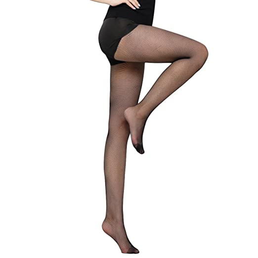 dd2f464de MIOIM Women s Stockings Latin Dance Pantyhose Footed Tight Professional  Dance Fishnet Tight Stockings Full FootBlack