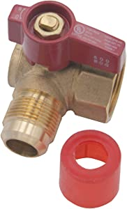 Supplying Demand 01-680G Angle Gas Line Hose Connector Gas Shut-off Valve CSA and U/L Approved (5/8