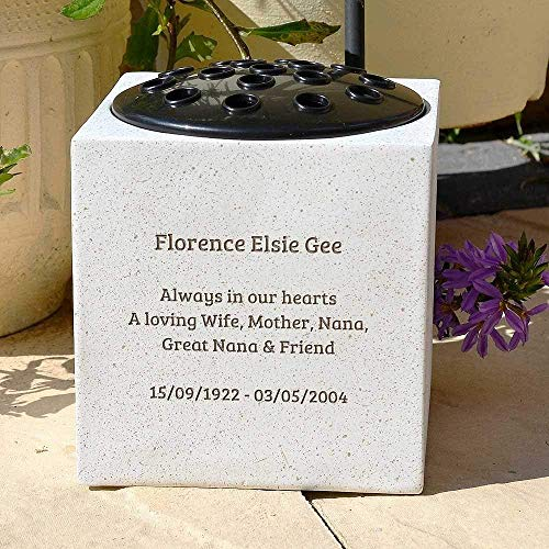 Fully Bespoke Personalised Customised Memorial Grave Side Flower Vase Pot & Fully Bespoke Personalised Customised Memorial Grave Side Flower ...