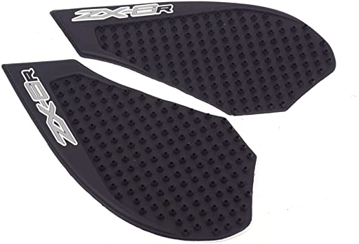 JFG RACING Rubber Gas Tank Pad Traction Side Fuel Knee Grips Decals For Kawasaki ZX6R 2009-2015
