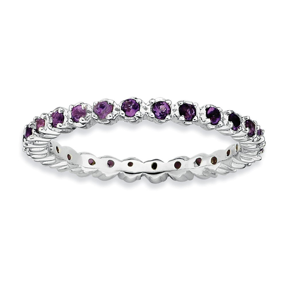 Top 10 Jewelry Gift Sterling Silver Stackable Expressions Amethyst Ring
