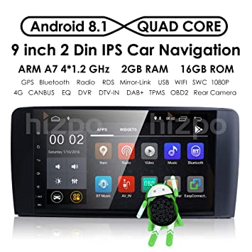 Android 8.1 Car DVD Player 9 Inch Radio GPS Navigation Stereo for Mercedes Benz ML GL W164 Auto GPS Navigation WiFi Bluetooth Touch Screen Mirror Link Dab ...