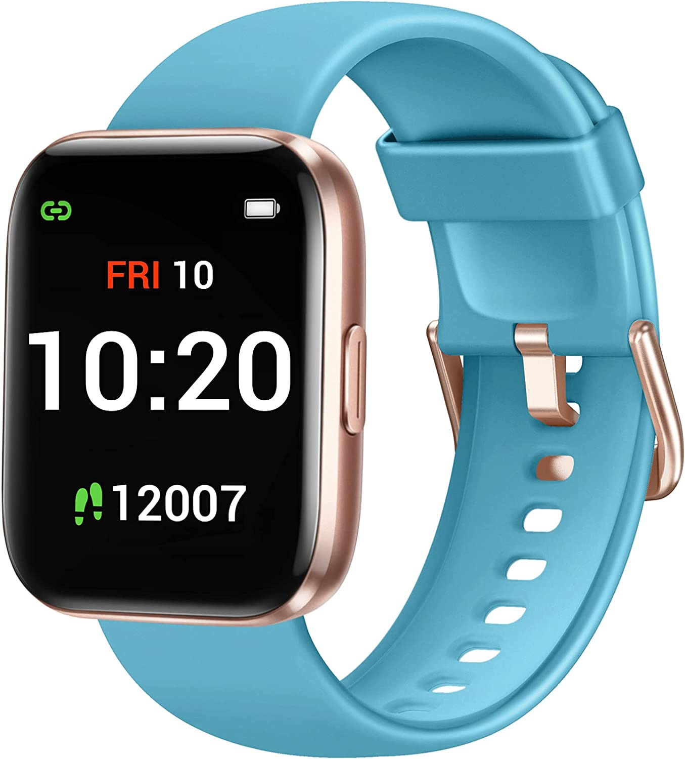 Letsfit Smart Watch for Android Phones Compatible with iPhone Samsung, Fitness Tracker with Blood Oxygen Saturation & Heart Rate Monitor, IP68 Waterproof Cardio Watch for Women Men, Blue