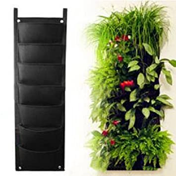 Yazi 7 Taschen Vertical Garden übertopf Wall Mount Pflanzgefäß