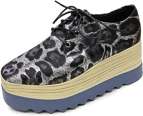 Moda Mujer Zapatos Oxford Casual Creepers Zapatos de