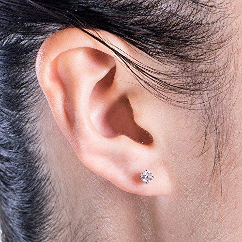 Diamond Studs Forever - Clous d'oreille en or blanc 14 carats - diamant 1/2 carat - G-H/I2-I3