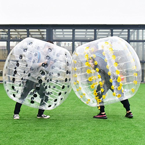 61IK0aivLiL - Costzon Bubble Soccer Ball, Dia 5' (1.5m) Human Hamster Ball, Inflatable Bumper Ball For Kids And Adults (Black Dot)