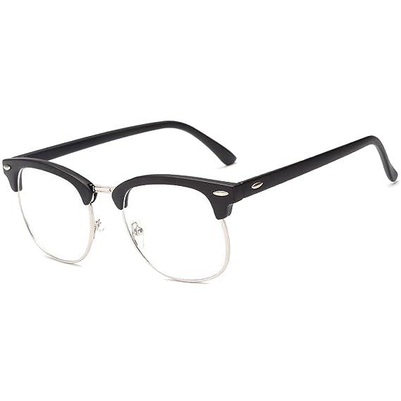 CGID CN56 Retro Anteojos Lente Claro Gafas Para Mujer y Hombre