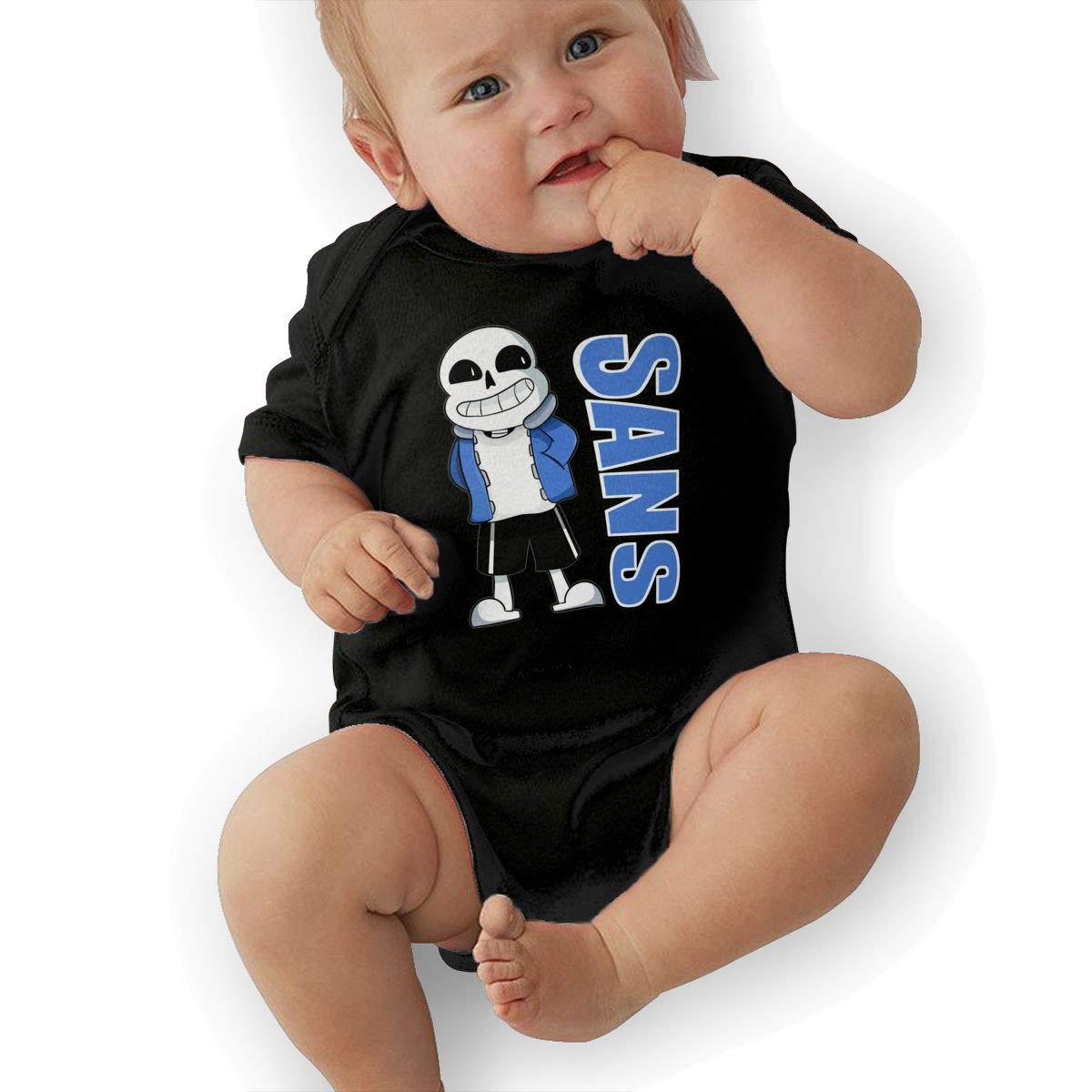 LuckyTagy Undertale Sans Unisex Fashion Newborn Baby Romper Baby BoyVest Black