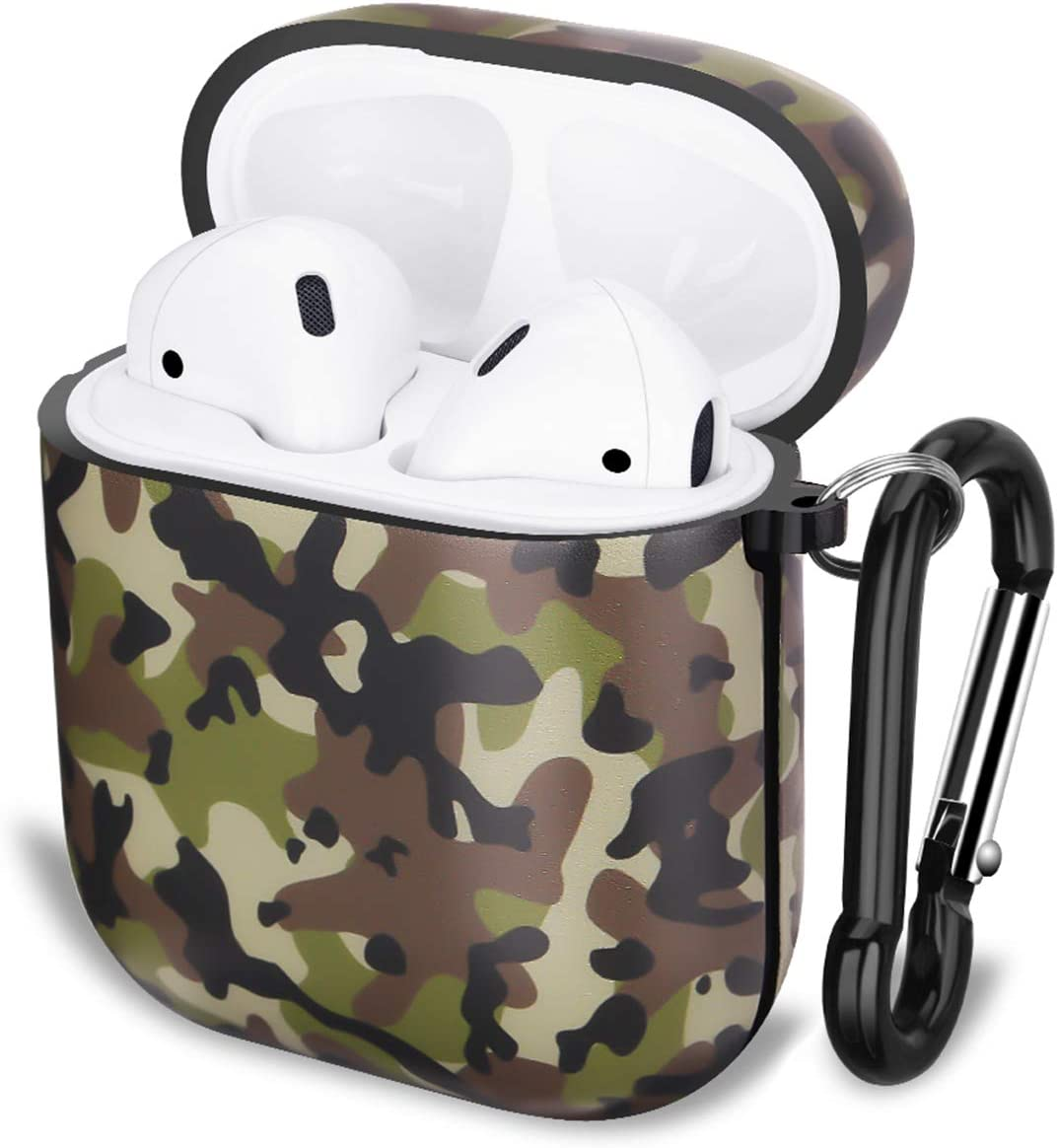 GOLINK Case for Airpods,Camo Series Protective Shockproof TPU Gel Case with Printing for Airpods 1st/2nd Charging Case(Military Brown)