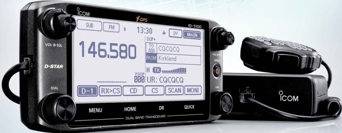 D-Star and Internal GPS Icom ID-5100A DELUXE 144//440 Amateur Radio Mobile Transciver with Touch Screen
