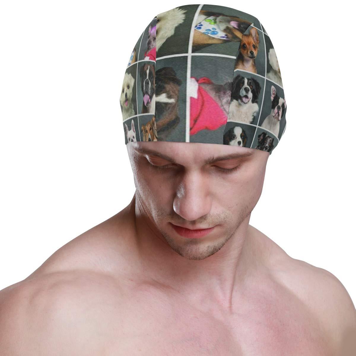 Christmas Foxes Swim Cap Mens Spandex Swimming Bathing Cap Hat Super-Sleek Design//Optimum Comfort//Skin-Friendly//for Short and Long Hair//Extra Durability