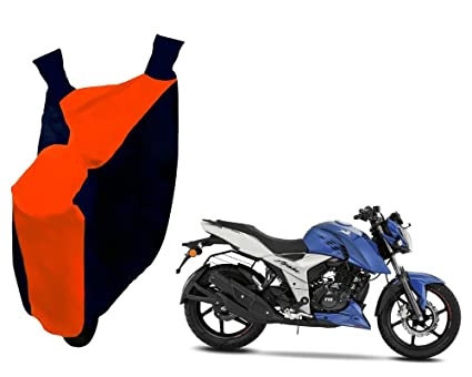 Autopearl Bike Body Cover for TVS Apache RTR 160 4V (Orange and Blue)