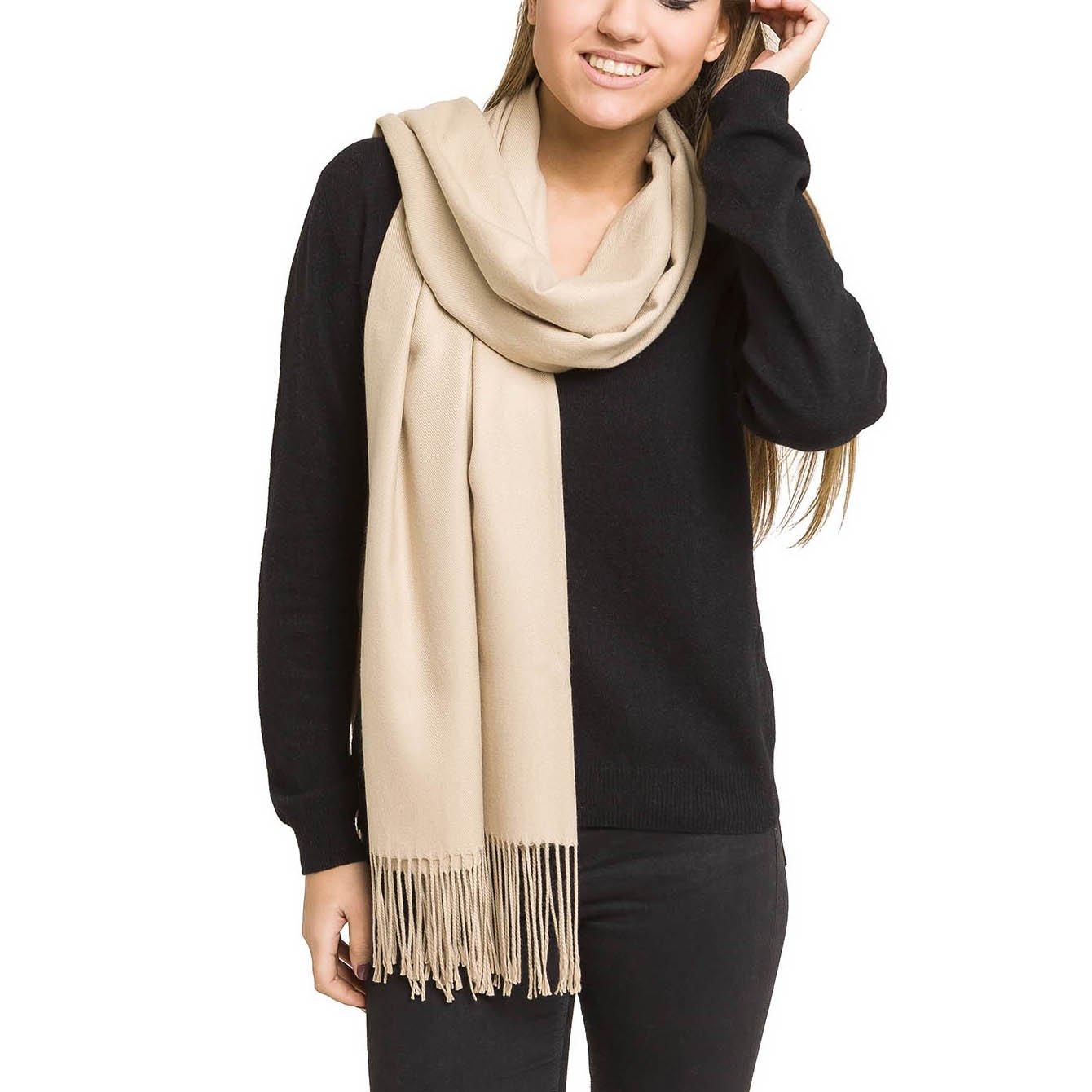 Kleidung & Accessoires Womens Lady Winter Warm Tartan Check Neck Shawl Scarf Wrap Stole Plaid Pashmina Clear-Cut-Textur Schals & Tücher