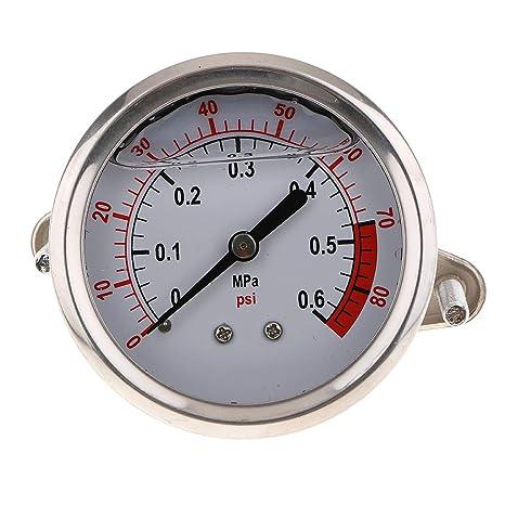 perfk Manómetro Hidráulico Compresor de Aire Aceite Agua Equipo de Instalación Electrónica de Imagen - 0.6