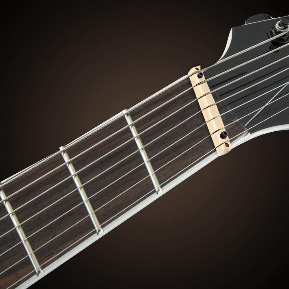 7 Cuerdas Guitarra Puente Tuerca, Ajustable Tuerca de Puente de Latón para Accesorios de Reemplazo de Guitarras Eléctricas multiescala de 7 Cuerdas ...