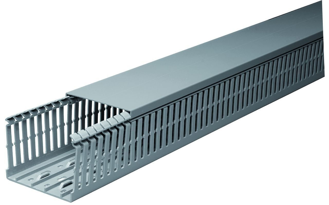 30 Sets of 1''x2''x2m Gray High Density Wiring Ducts and Covers - UL/CE/CSA Listed