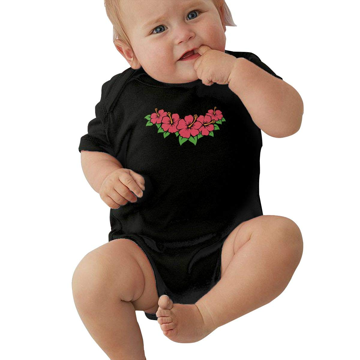 Hibiscus Toddler Baby Girl Boy Romper Jumpsuit Outfit Short Sleeve Bodysuit Tops Clothes
