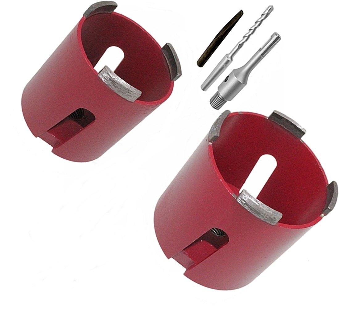 68/+ 82/mm + 1/Incluye caja de broca SDS Plus Senker brocas de corona de perforaci/ón enchufes de broca//–/Bodi-Tek Tools Diamante de Corona universal