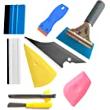 9PCS Vehicle Glass Protective Film Car Window Wrapping Tint Vinyl Installing Tool: 4 Inch Felt Squeegee, Retractable 9mm…