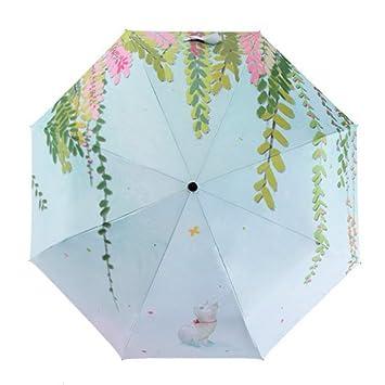 Paraguas plegable-mujeres,chicas,señoras s soleado y lluvioso Paraguas plegable 3
