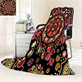Digital Printing Blanket Spiritual Motif with Middle Islamic Influences Emerald Red Summer Quilt Comforter
