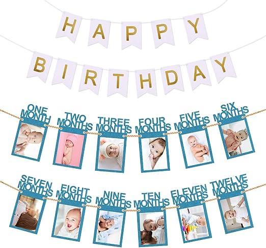 Amazon.com: Hurriman - Guirnalda de recuerdo de cumpleaños ...
