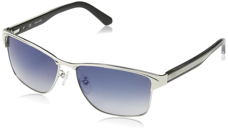 9a7badeea5b Police S8851-579B Mens Glider 2 S8851-579B Palladium Blue Sunglasses at  Amazon Men s Clothing store