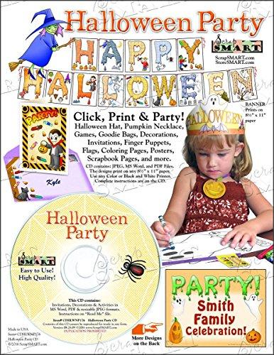 ScrapSMART - Halloween Party Software Kit - Jpeg, PDF, and Microsoft Word Files (CDHLWNP176)