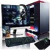 """Vibox Legend Pacchetto 12 Gaming PC con Gioco War Thunder, 27"""" HD Monitor, 4.4GHz Intel i7 Quad Core Processore, 2x nVidia GeForce GTX 980 Ti SLI Scheda Grafica, 500GB SSD, 3TB HDD, 32GB RAM, Nero"""