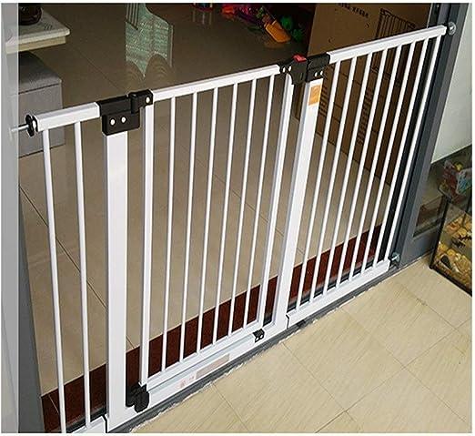 HONGAN Puerta De Bebé Valla De Seguridad For Bebé Extensible Valla For Mascotas Puertas For Bebé For Escaleras Barandilla Cierre Doble Cierre Automático (Color : High80CM, Size : 74-81cm): Amazon.es: Hogar