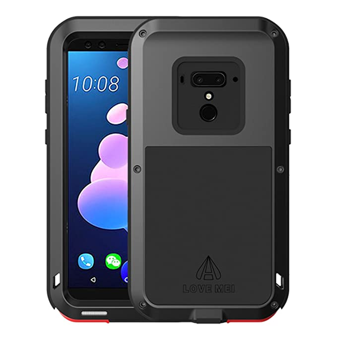 finest selection 9995c 3e1c8 Simicoo HTC U12 Plus Aluminum Alloy Metal Bumper Silicone Full body Hybrid  Military Shockproof Heavy Duty Armor Defender Tough Back Cover For HTC U12  ...