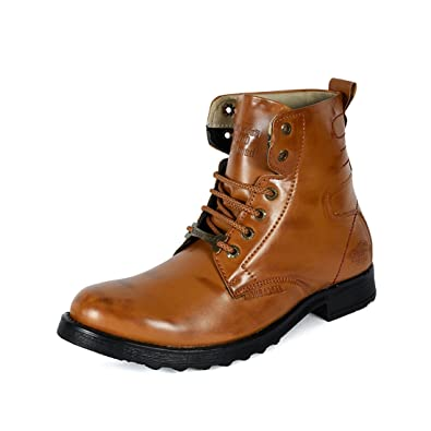 166d8a9d7221 Bacca Bucci Men TAN PU Boots  Buy Online at Low Prices in India - Amazon.in