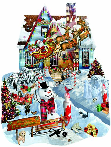 Shaped Snowman (SunsOut Christmas At Our House Shaped Jigsaw Puzzle (1000-Piece))