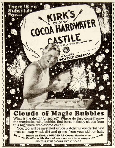 1928 Ad James S Kirk Cocoa Hardwater Castile Bath Soap Health Beauty Hygiene - Original Print Ad from PeriodPaper LLC-Collectible Original Print Archive