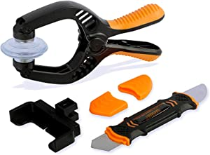 Cell Phone Suction Cup Tool LCD Screen Opening Pliers 2 in 1 Screen Repair Tool Kit for iPhone, iPad, iMac, Laptop, Tablet