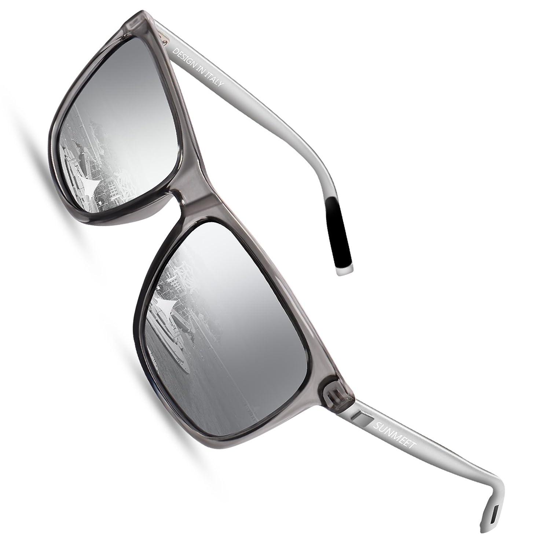 84548b0a097f Polarized Wayfarer Sunglasses for men - SUNMEET Mens Vintage Sun Glasses  UV400 S1001