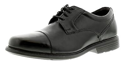Rockport Charles Straße Kappe Zeh Herren Leder Formelle Schuhe Schwarz -  Schwarz - UK Größen 7
